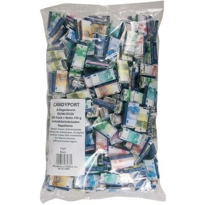 Grosspackung Candyport Napolitains Euro im Beutel 250er 750g