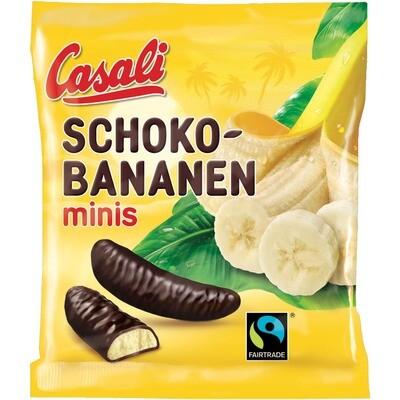 Grosspackung Casali Schoko Bananen Mini 20 x 125 g = 2,5 kg
