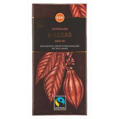 Grosspackung EZA Bio Schokolade Mascao Noir 85 % 12 x 100 g = 1,2 kg