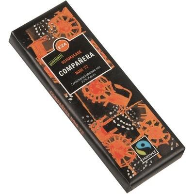 Grosspackung EZA Companera Bio Schokolade Noir 72% 11 x 50 g = 0,55 kg