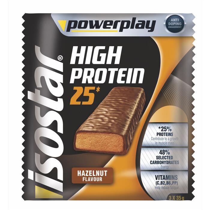 Grosspackung Isostar High Protein-Riegel Haselnuss 20 x (3 x 35 g) = 2,1 kg