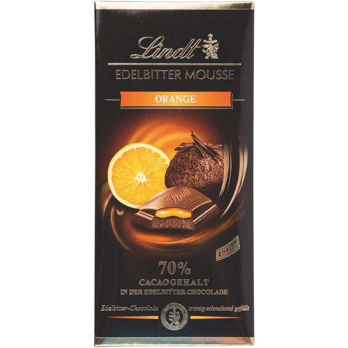 Grosspackung Lindt Edelbitter Mousse Orange 13 x 150 g = 1,95 kg