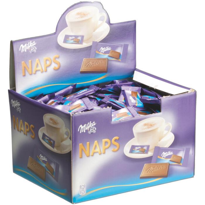 Grosspackung Milka Naps Alpenmilch lose 355 Stk. = 1,702 kg