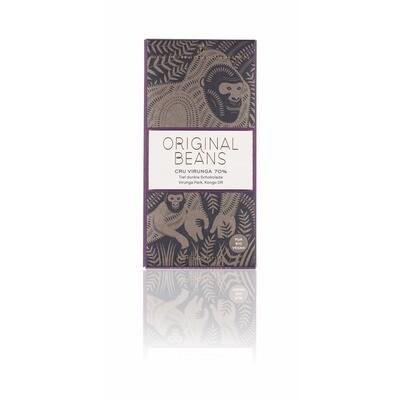 Grosspackung Original Beans Bio Schokolade Cru Virunga 70 % 13 x 70 g = 0,91 kg