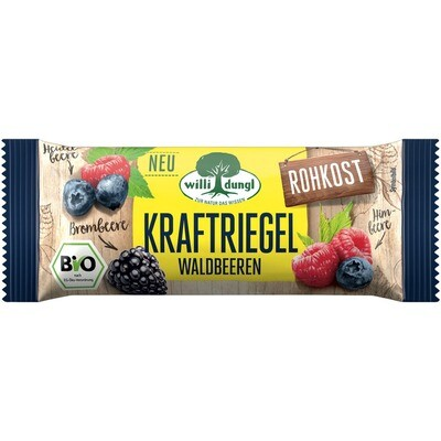 Grosspackung Willi Dungl Bio Kraftriegel Waldbeer 24 x 30 g = 0,72 kg