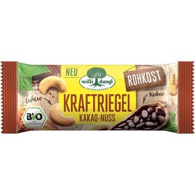 Grosspackung Willi Dungl Bio Kraftriegel Kakao Nougat 24 x 30 g = 0,72 kg