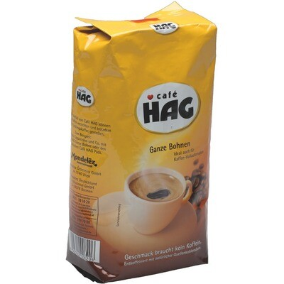 Grosspackung Cafe Hag Bohne Kaffee entkoffeiniert 12 x 500g = 6 kg