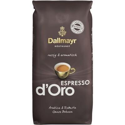 Grosspackung Kaffee Dallmayr d'Oro Bohne Espresso 8 x 1 kg = 8 kg