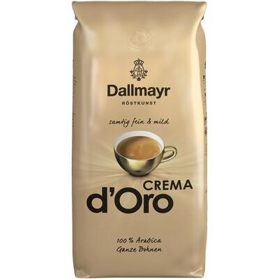 Grosspackung Kaffee Dallmayr d'Oro Bohne Crema 8 x1 kg = 8 kg