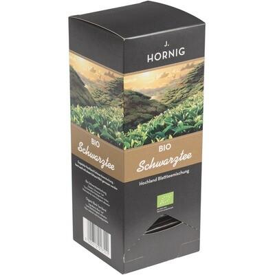 Grosspackung Hornig Bio Triangle Schwarztee Tassenportionen 4 x 25er  62,5 g = 0,25 kg