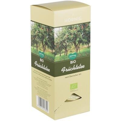 Grosspackung Hornig Bio Triangle Steirische Früchte Tee Tassenportionen 4 x 25er 100g = 0,4 kg