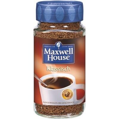 Grosspackung Instant-Kaffee Maxwell löslich 6 x 200 g = 1,2 kg