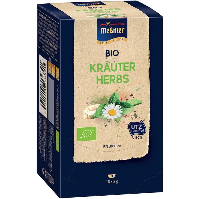 Grosspackung Messmer Tee Messmer Bio Profiline Kräuter 10 x 36 g = 0,36 kg