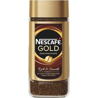 Grosspackung Nescafe Instant-Kaffee Gold Edelmischung 6 x 200 g = 1,2 kg