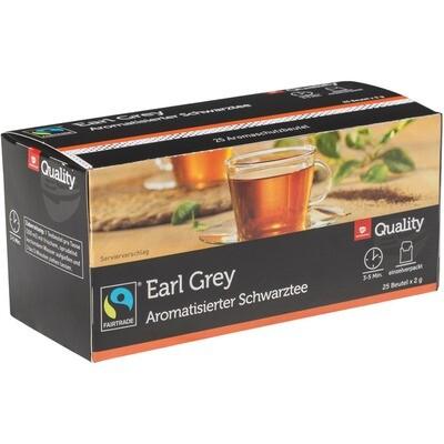 Grosspackung Quality Tee Earl Grey Tassenportionen im Aromaschutzbeutel 25er 10 x 50 g = 0,5 kg