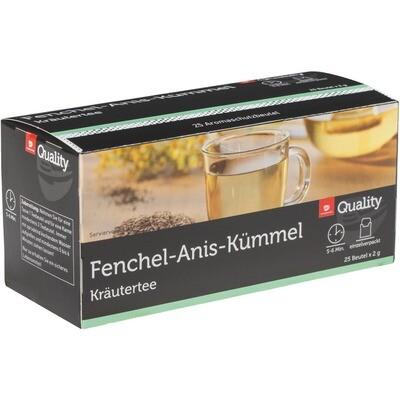 Grosspackung Quality Tee Fenchel Anis Kümmel Tassenportionen im Aromaschutzbeutel 25er 10 x 50 g = 0,5 kg