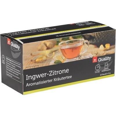 Grosspackung Quality Tee Ingwer Zitrone Tassenportionen im Aromaschutzbeutel 10 x 50g = 0,5 kg