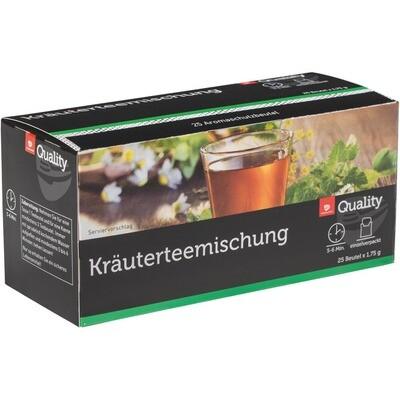 Grosspackung Quality Tee Kräutermischung Tassenportionen im Aromaschutzbeutel 10 x 43,75g = 0,437 kg