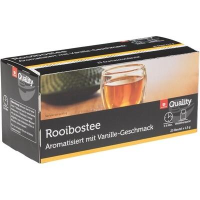 Grosspackung Quality Tee Rooibos Vanille Tassenportionen im Aromaschutzbeutel 25er 10 x 37,5g = 0,375 kg