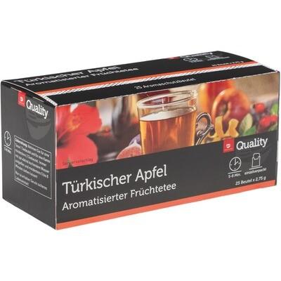 Grosspackung Quality Tee Türkischer Apfel Tassenportionen im Aromaschutzbeutel 25er 10 x 68,75g = 0,687 kg