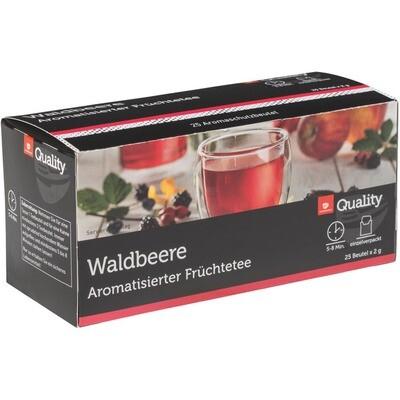 Grosspackung Quality Tee Waldbeere Tassenportionen im Aromaschutzbeutel 25er 10 x 50g = 0,5 kg