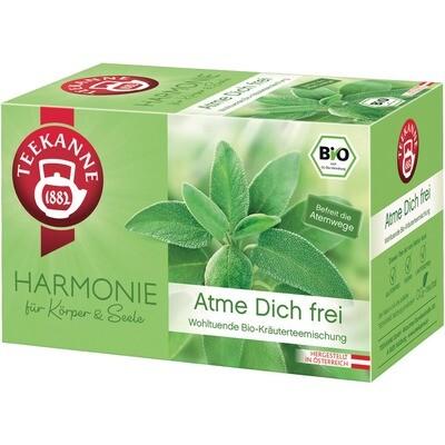 Grosspackung Teekanne Bio Harmonie Atme Dich frei 10 x 20er = 200 Beutel