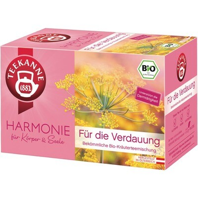 Grosspackung Teekanne Bio Harmonie für die Verdauung 10 x 20er = 200 Beutel