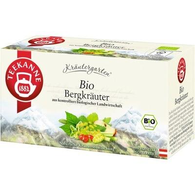 Grosspackung Teekanne Bio Kräutergarten, Bergkräuter 12 x 20er = 240 Beutel