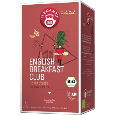 Grosspackung Teekanne Selected Bio Luxury Cup Englisch Breakfast 8 x 20er = 160 Beutel