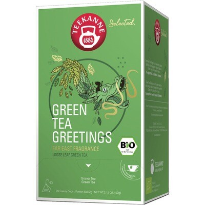 Grosspackung Teekanne Selected Bio Luxury Cup Green Tea 8 x 20er = 160 Beutel