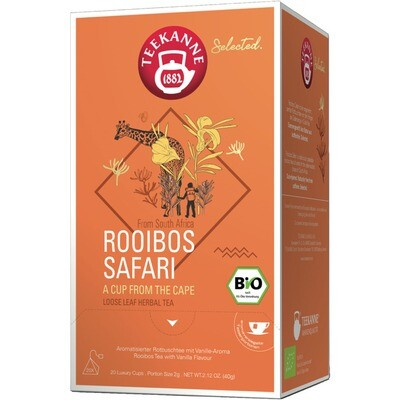 Grosspackung Teekanne Selected Bio Luxury Cup Rooibos Safari 8 x 20 er = 160 Beutel