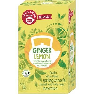 Grosspackung Teekanne Bio Organic Ginger Lemon 6 x 20er = 120 Beutel