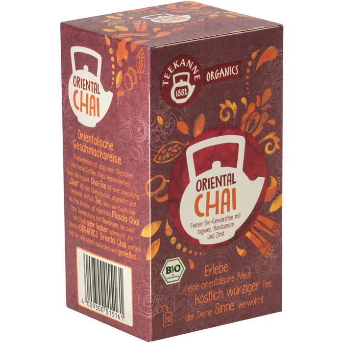 Grosspackung Teekanne Bio Organic Oriental Chai 6 x 20er = 120 Beutel