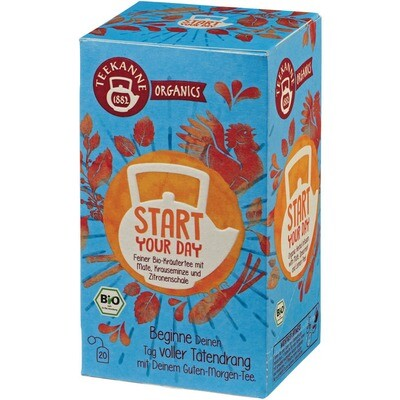 Grosspackung Teekanne Bio Organic Start your dream 6 x 20er = 120 Beutel