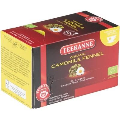 Grosspackung Teekanne Kamille Fenchel aus BIO-Ernte 10 x 20er = 200 Beutel