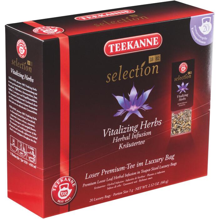 Grosspackung Teekanne Selection Luxury Bag Sencha Vitalkräuter 8 x 20er = 160 Beutel