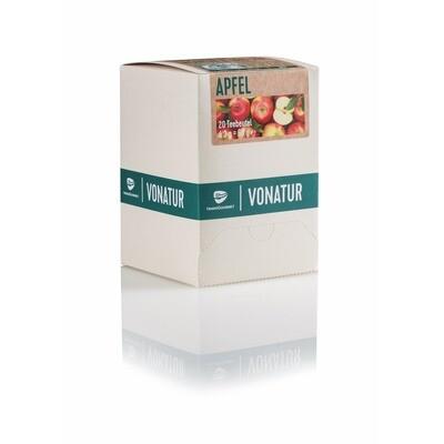 Grosspackung Vonatur Bio Tee Apfel aus kontrolliert biologischer Landwirtschaft 6 x 20er = 120 Beutel