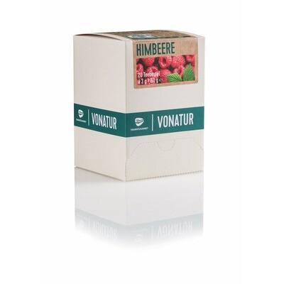 Grosspackung Vonatur Bio Tee Himbeere aus kontrolliert biologischer Landwirtschaft 6 x 20er = 120 Beutel