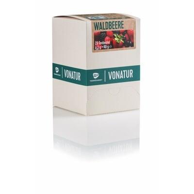 Grosspackung Vonatur Bio Tee Waldbeer aus kontrolliert biologischer Landwirtschaft 6 x 20er = 120 Beutel