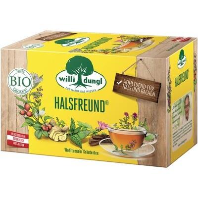 Grosspackung Willi Dungl Bio Tee Halsfreund 10 x 20 er = 200 Beutel