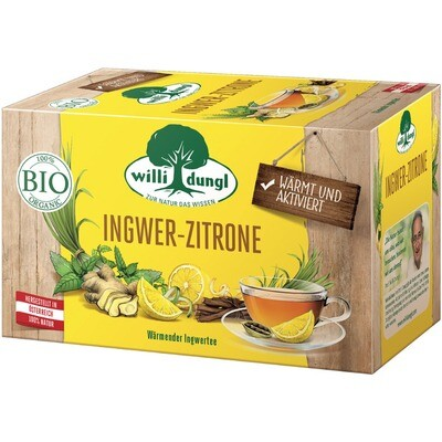 Grosspackung Willi Dungl Bio Tee Ingwer Zitrone 10 x 20 er = 200 Beutel