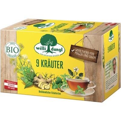 Grosspackung Willi Dungl Bio Tee 9 Kräuter 10 x 20 er = 200 Beutel