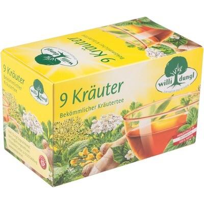 Grosspackung Willi Dungl Tee 9-Kräuter 10 x 20 er = 200 Beutel