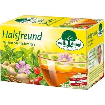 Grosspackung Willi Dungl Tee Halsfreund 10 x 20 er = 200 Beutel