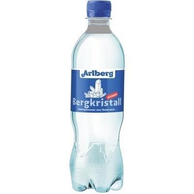 Grosspackung Arlberg Bergkristall prickelnd aus Österreich 12 x 0,5 l PET = 6 Liter