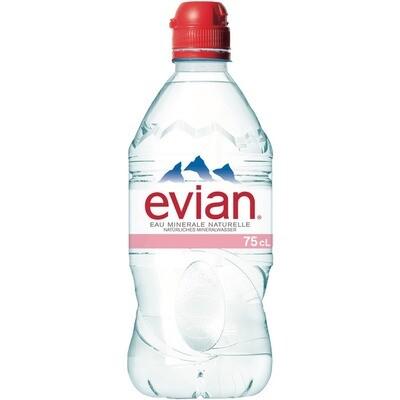 Grosspackung Evian Sport Mineralwasser 6 x 0,75 l = 4,5 Liter