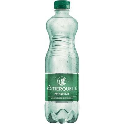 Grosspackung Römerquelle Prickelnd Mineralwasser 24 x 0,5 l = 12 liter