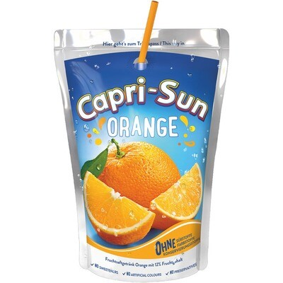 Grosspackung Capri Sun Orange 10 x 0,2 l = 2 Liter
