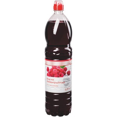 Grosspackung Economy Himbeer Sirup 6 x 1,5 l PET = 9 Liter