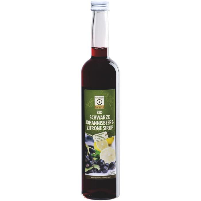 Grosspackung natürlich für uns Bio Sirup Johannisbeer-Zitrone 6 x 0,5 L = 3 Liter
